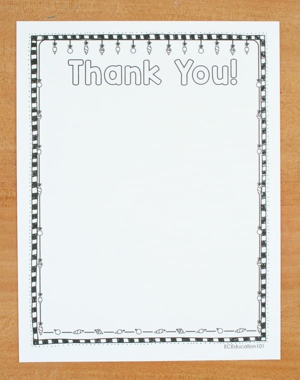 Printable Christmas Thank You Letters Template3