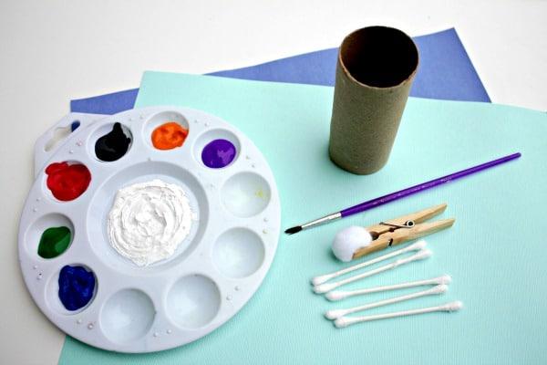 materials for snowman art