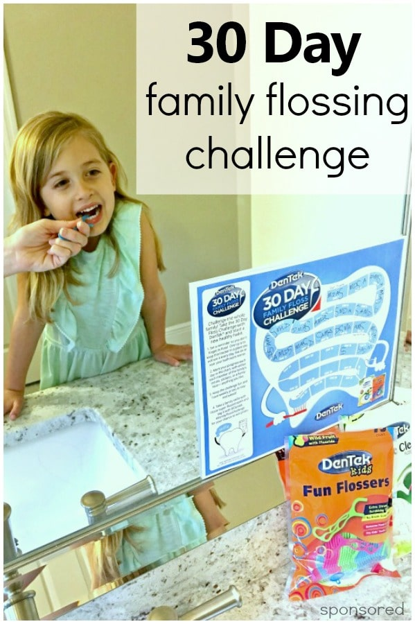 Get the whole family brushing and flossing together with a 30 Day Challenge