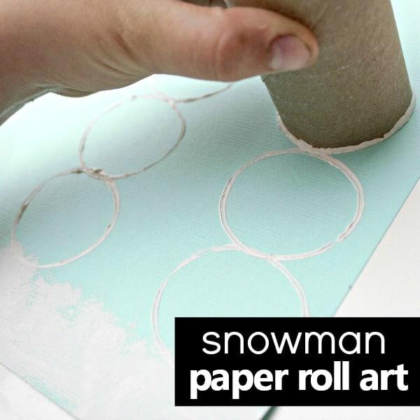 Snowman Paper Roll Art