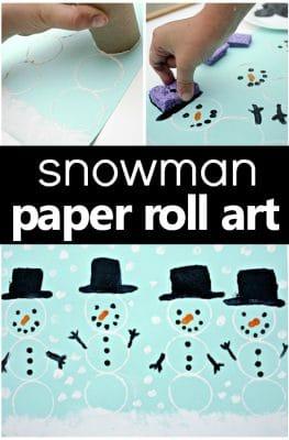Snowman Art Winter Craft for Preschool and Kindergarten #winteractivities #kindergarten