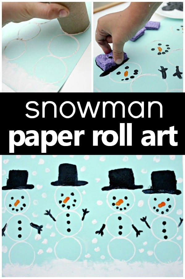 Snowman Art Winter Craft for Preschool and Kindergarten #winteractivities #kindergarten