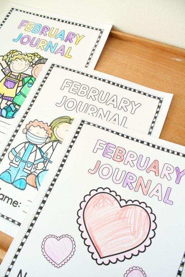 February Writing Journals #kindergarten #writing