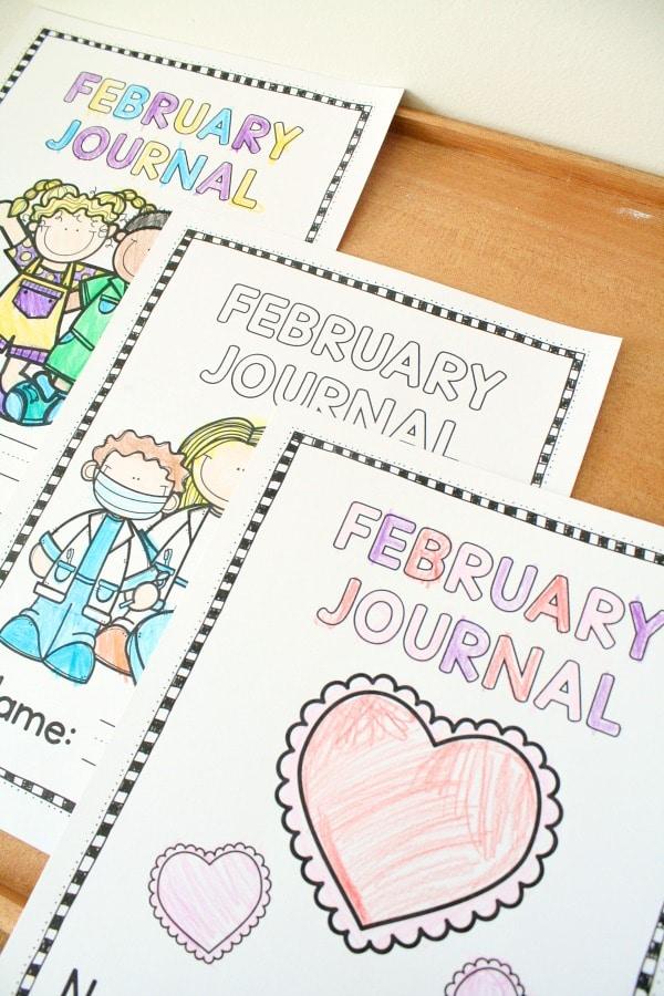 February Writing Journals #kindergarten #writing