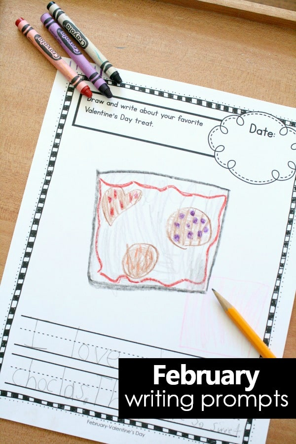 February Writing Prompts and Journal Pages for Kids #preschool #kindergarten