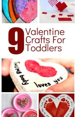 9 Adorable Valentine's Day Crafts for Toddlers #valentinesday #toddlers #kidscrafts