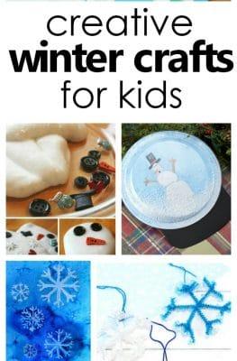 Over 20 creative winter crafts for kids #kidscrafts #wintercrafts #kiddsactivities