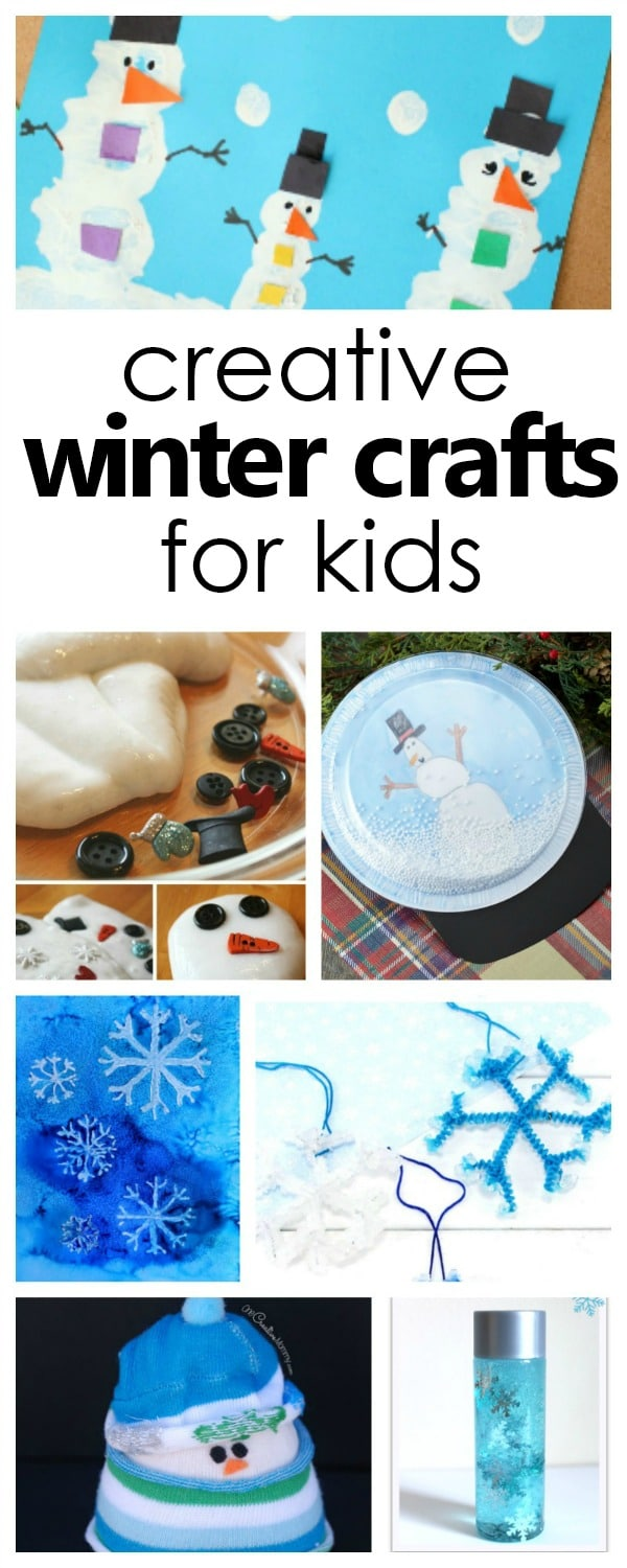 Over 20 creative winter crafts for kids #kidscrafts #wintercrafts #kiddsactivities
