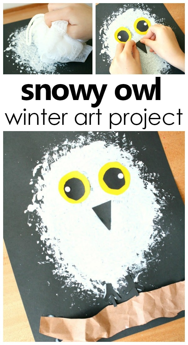 Snowy Owl Winter Art Project For Kids Artforkids Kidsactivities Prek