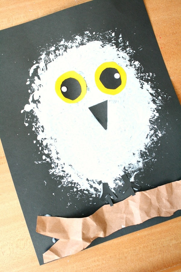 Snowy owl printable craft snowy owl winter craft for fantastic learning - Imitation origami owl ...