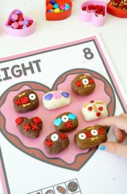 Chocolate Heart Valentine Play Dough Mats