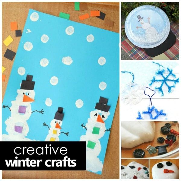 creative winter crafts for kids -square