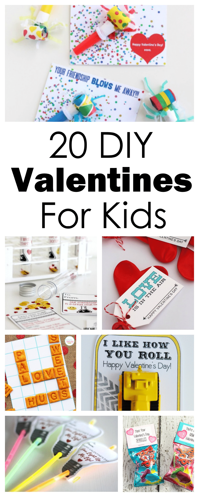 20+ DIY Valentines Kids will LOVE making and receiving! #valentinesday #DIYvalentine #kids