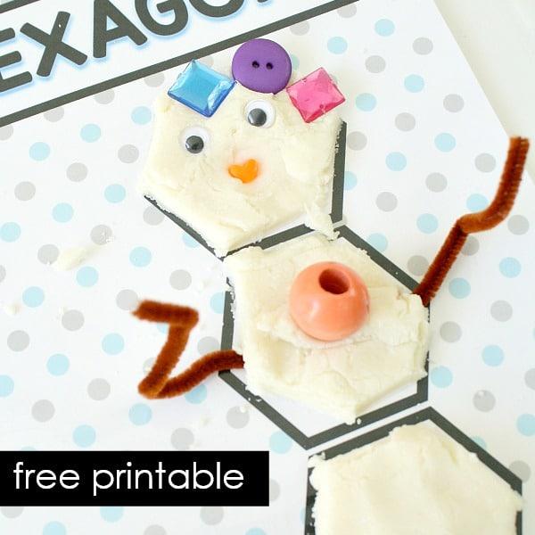 free printable shape mats-square