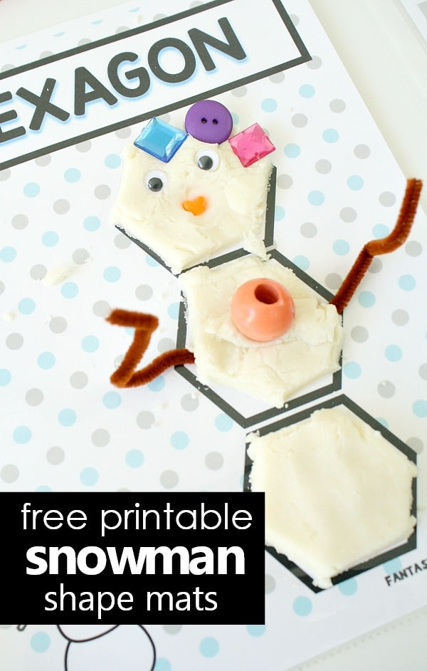 image relating to Free Printable Snowman called Snowman Condition Engage in Dough Mats - Terrific Exciting Mastering
