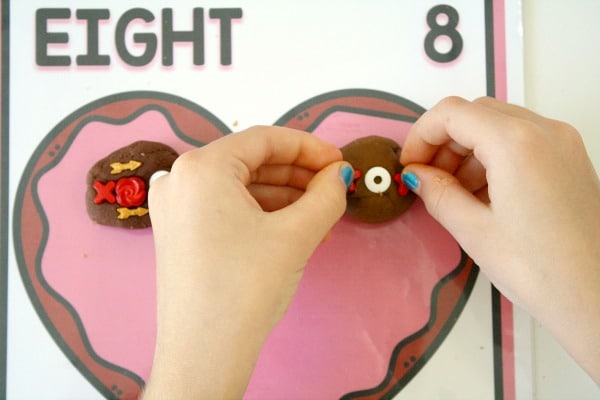 Valentine's Day Activity -Math Counting Mats