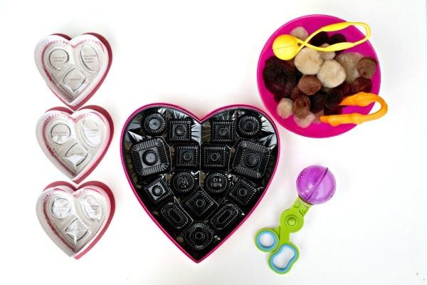 Valentine Chocolates Setup