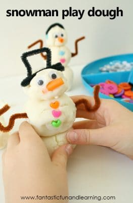 snowman play dough winter activity #kidsactivities #finemotor #snowmen
