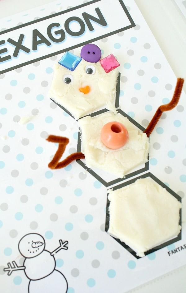 snowman shape mats no text