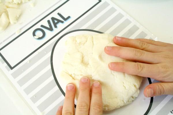 snowman shape mats pressing dough