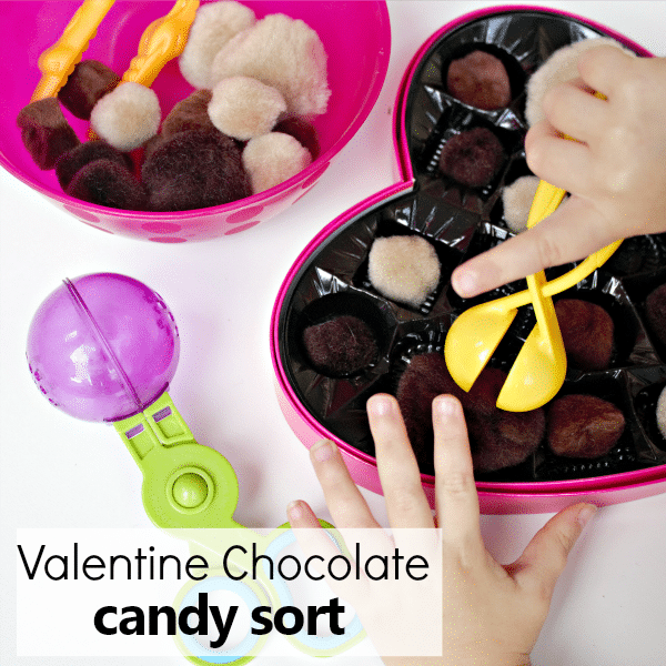 Valentine's Day Chocolate Candy Sort