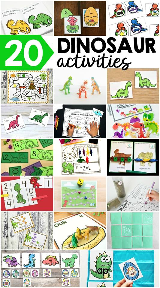 Dinosuar Activities and Printables for Kids