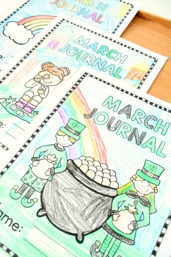 March Journal Covers for Writing Journals #preschool #kindergarten #march