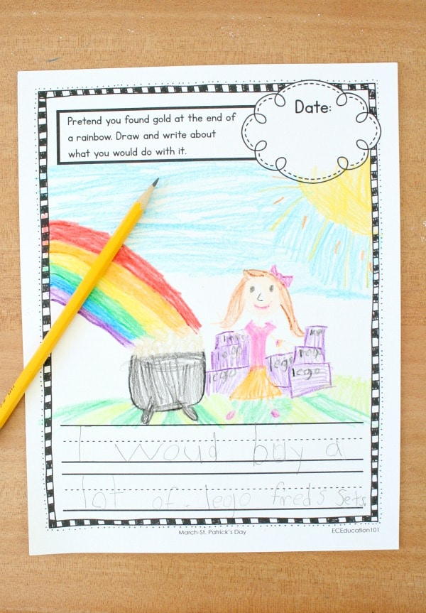 Rainbow Theme Writing Prompts for Kids