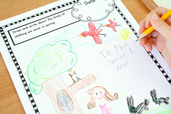 Spring Theme Writing Prompts for Kids