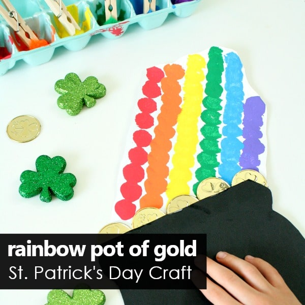 Square-Rainbow Pot of Gold Craft