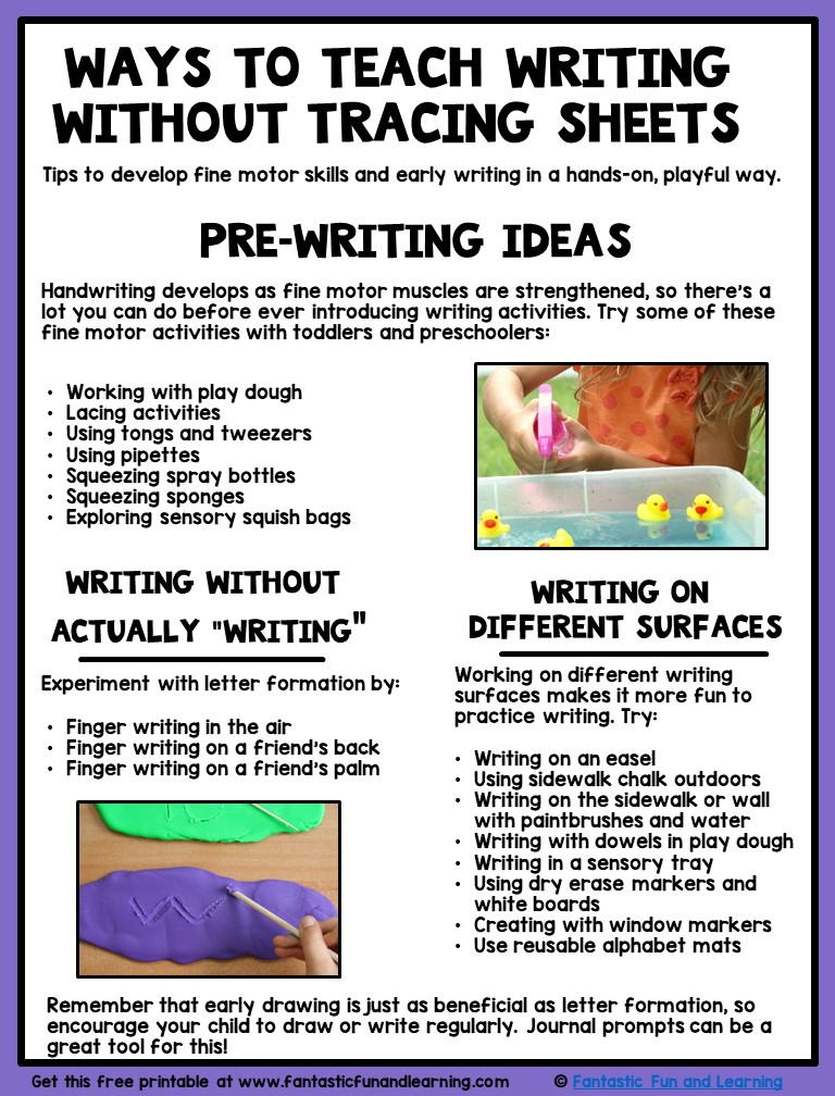 writing activities for kindergarten