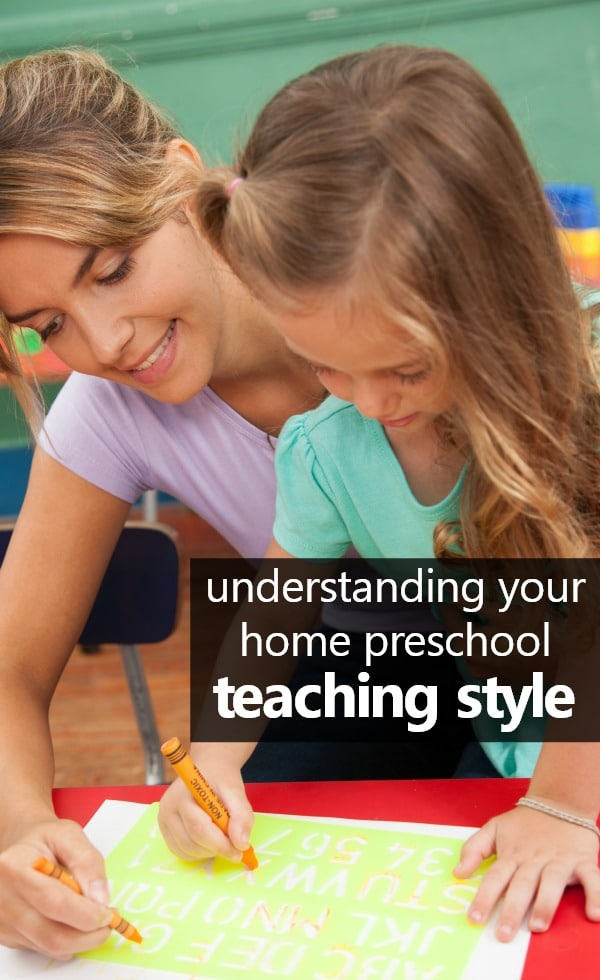 Understanding your teaching style and how it relates to home preschool #preschoolathome #homepreschool #homeschoolpreschool