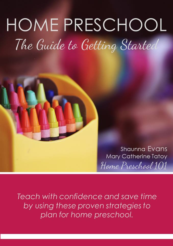 Get started teaching preschool at home with these tips and printable planning resources #homeschoolpreschool #homepreschool #preschoolathome