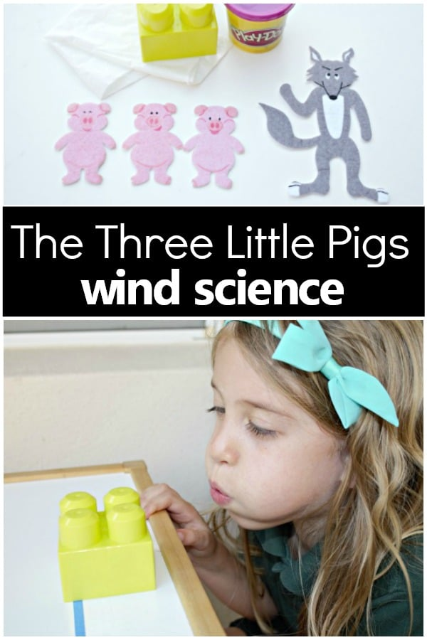 Wind Science Experiment Three Little Pigs Activity Investigate the impact of wind after with this 3 Little Pigs story activity #preschool #sciencexperiment #freeprintable