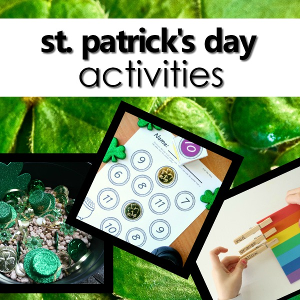 St. Patrick's Day Activities for Kids-Printables, lesson plans, hands-on activities, art projects and more for your preschool St. Patrick's Day theme. #stpatricksday #preschoolactivities #preschool
