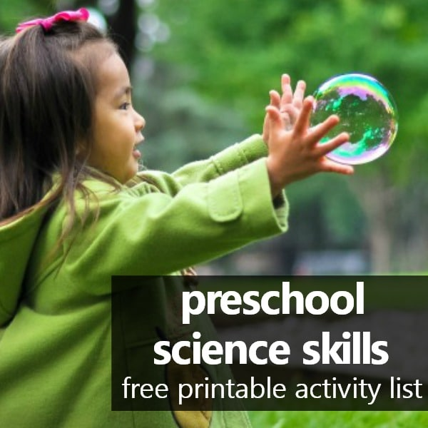 preschool science skills