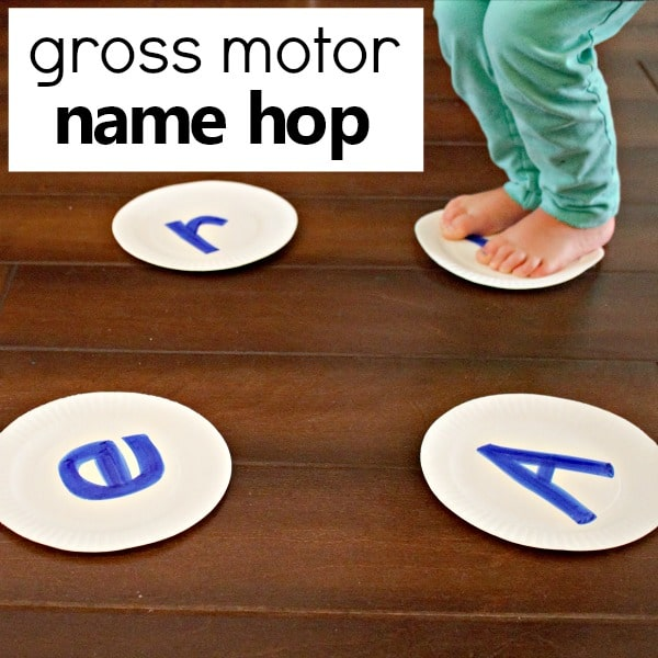 Name Hop Preschool Name Activity
