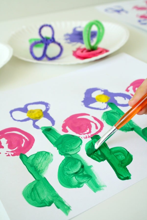 Flower Stamping Garden Art for Spring