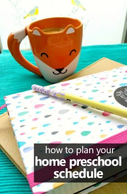 How to plan your home preschool schedule. Includes free printable planning sheet. #homepreschool #freeprintable #preschoolathome