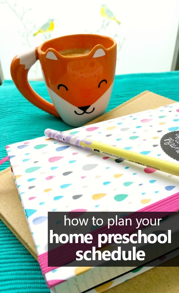 How to plan your home preschool schedule. Includes free printable planning sheet. #homepreschool #freeprintable #preschoolathome