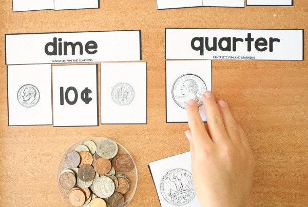 photograph regarding Large Printable Coins identified as Cost-free Coin Sorting and Matching Printables - Good Exciting