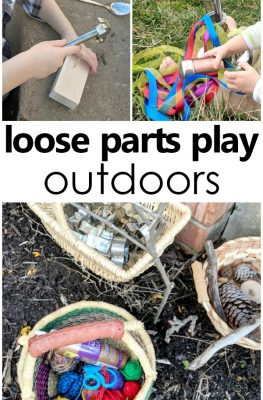 Loose Parts Play with Kids-Head outdoors and play! #outdoorplay #kids #preschool