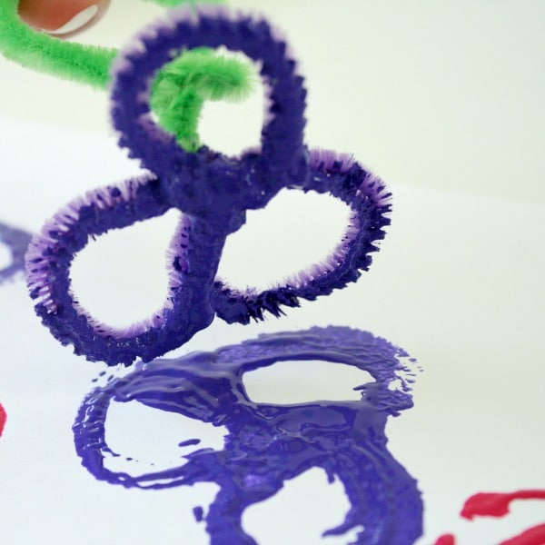Pipe Cleaner Flower Stamps