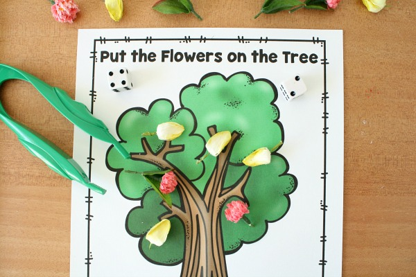 Practicing Addition with Free Printable Spring Math Game
