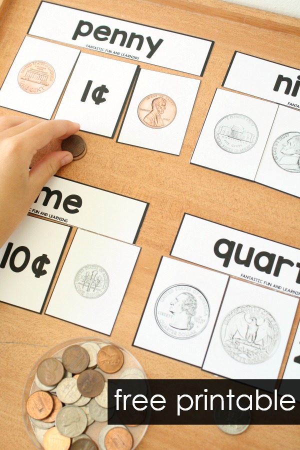 graphic regarding Free Printable Money identified as No cost Coin Sorting and Matching Printables - Outstanding Enjoyable