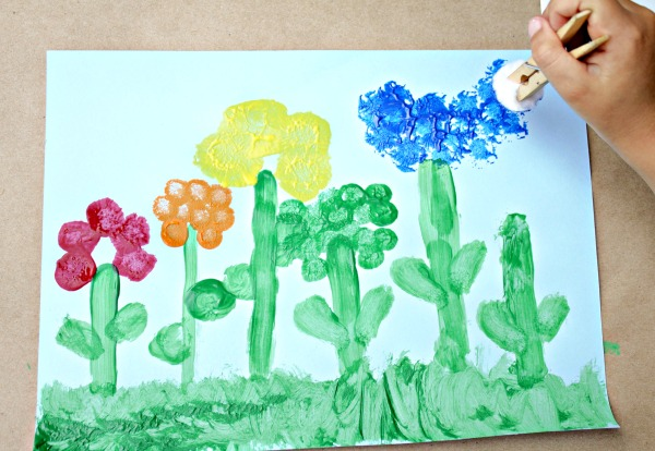 Rainbow Flower Art for Kids