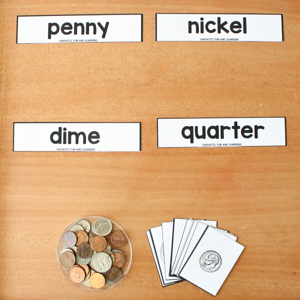 coin matching printable set