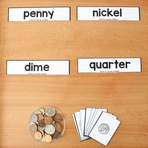 coin matching printable set