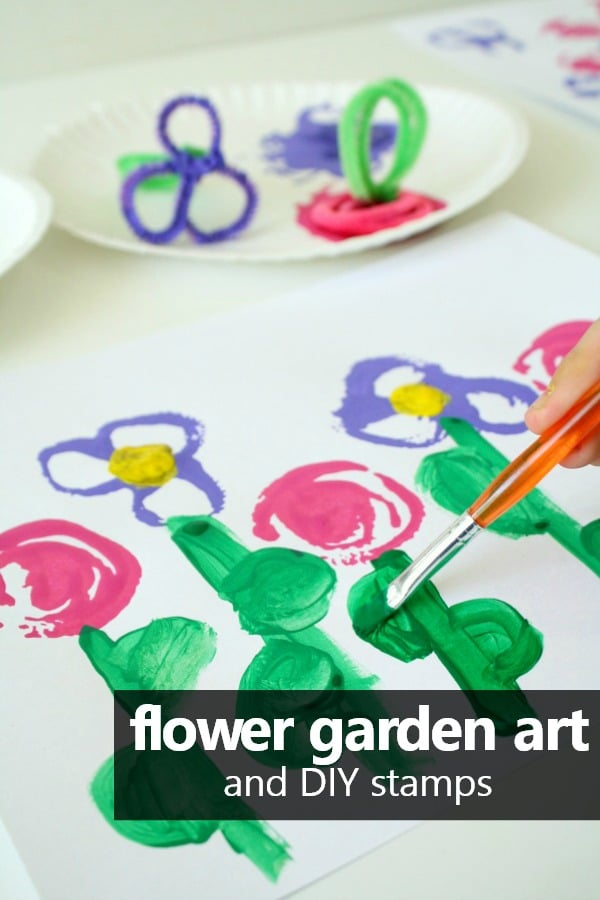 Flower garden art project spring craft for preschool