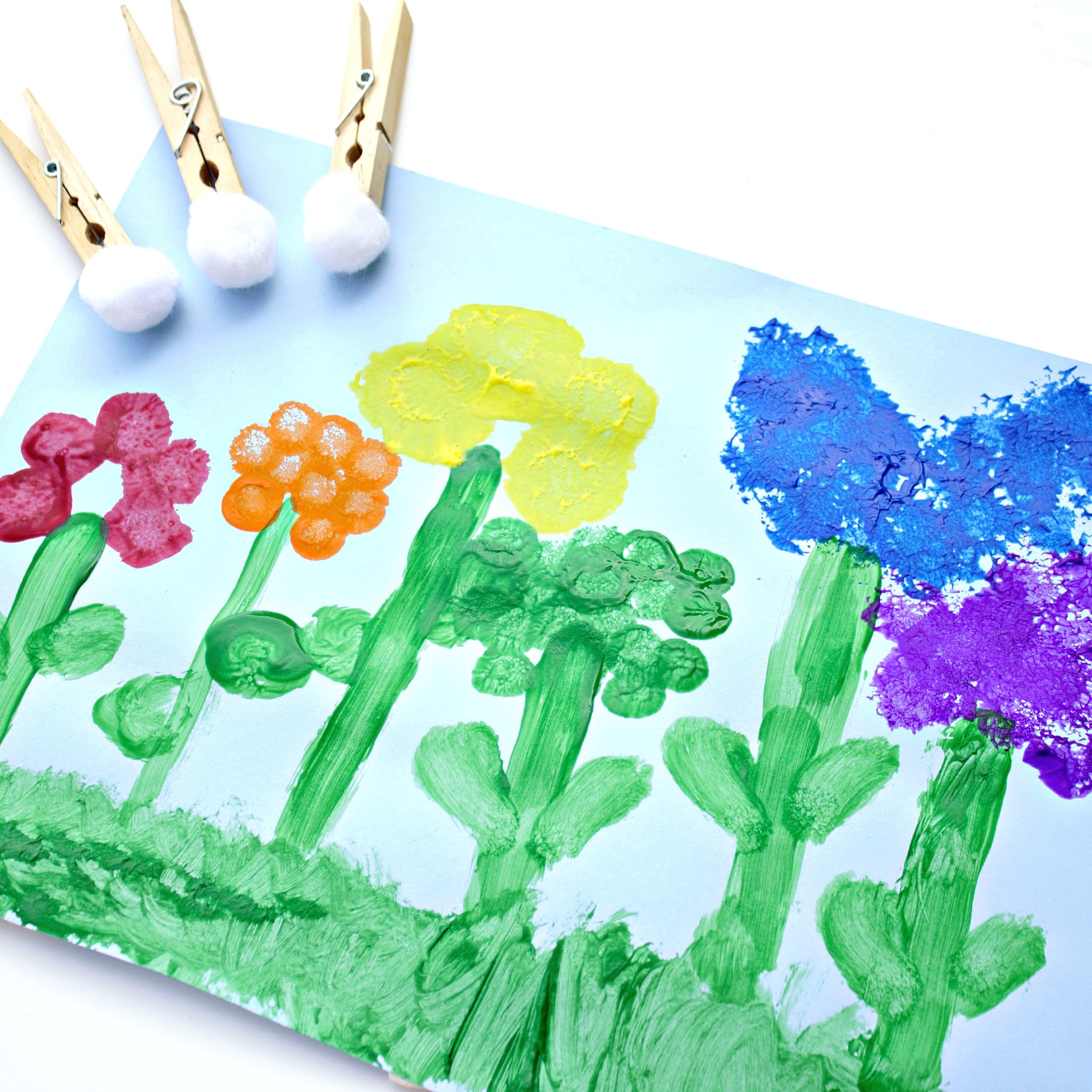 Flower art for kids